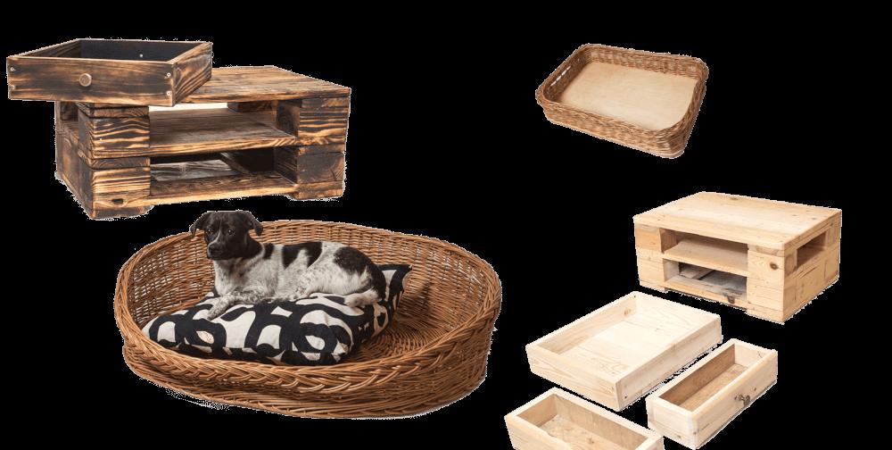 Jailshop Hintergrund Bild mit Holzprodukten