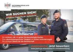 Wir suchen dich! Österreichische Justiz Werbung